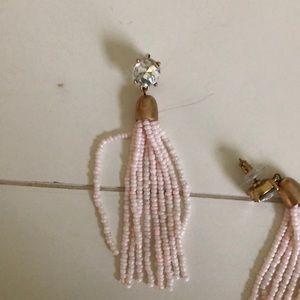 Light pink dangle earrings